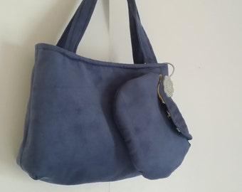 Little blue purse and wallet set