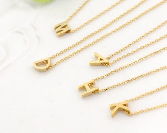 Bridesmaid gifts -Set of 4, 5, 6 -Initial necklace, wedding, bridesmaid necklace,Personalized necklace,wedding, friendship necklace