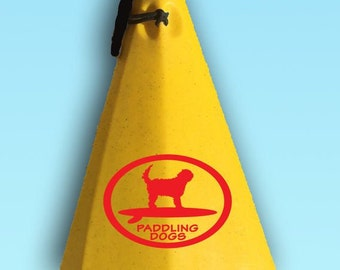 Doodle Paddler Otterhound Dog Vinyl SUP Kayak Canoe Car Sticker Decal Original Design by Paddling Dogs