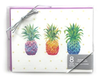 Note Cards // Pineapples // Notecards // Blank Notecards // Boxed Notecards // Notecard // Stationery // Card