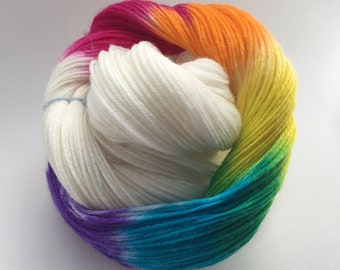Rainbow 4 ply yarn