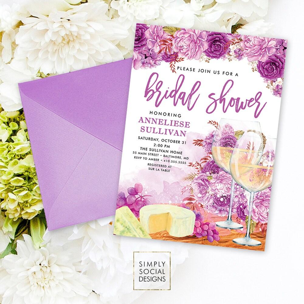 Wine Bridal Shower Invitation - Wine Tasting Invitation Sip and See ...
