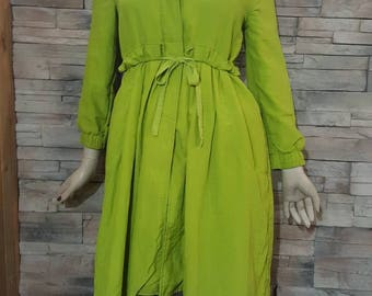spring trench coat Apple green coat/Girls size 12 to 14 years /women XS/fall spring coat