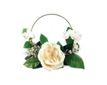 Flower Girl Hoop | Silk Flowers | Faux Flowers | Rustic Wedding | Wedding Flowers | Boho Wedding
