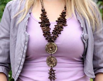 bohemian jewelry ethnic jewelry ethnic necklace african jewelry Wooden jewelry Wooden necklace Wood jewelry Wood Bead necklace tribal jewelr