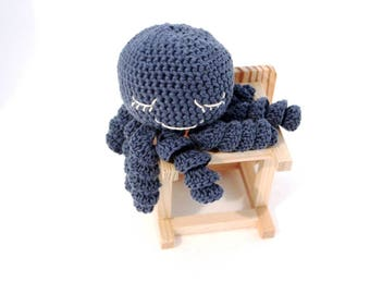 Crochet octopus preemie octopus Cute Octopus Octopus Toy Stuffed octopus Octopus Plush toy newborn Blue octopus