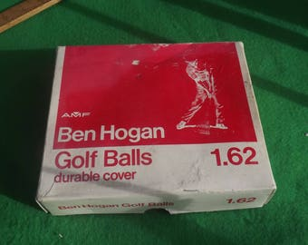Vintage Wrapped Golf Balls Ben Hogan 1 Dozen American Made Balls English Size 1.62