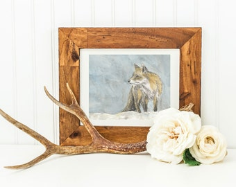 Mr Fox- Archival Quality Mounted and Signed Fine Art Print