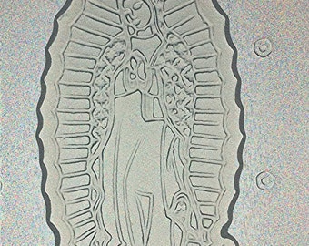 Flexible Resin Mold Virgin Mary Virgen de Guadalupe Mould