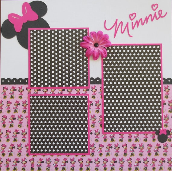 Minnie Mouse Disney Double Page 12x12 Scrapbook Layout