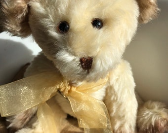 OOAK handmade artist teddy bear, in German mohair