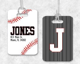 Baseball Luggage Tag, Baseball Backpack Tag, Baseball Bag Tag, Luggage Tag Personalized, Monogrammed Bag Tag, Baseball Gifts