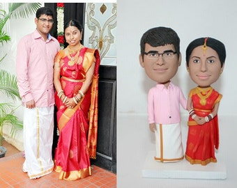 Indian wedding cake toppers personalized wedding topper, Head-To-Toe Custom wedding cake topper from your photos
