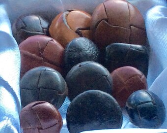 Vintage Leather Buttons