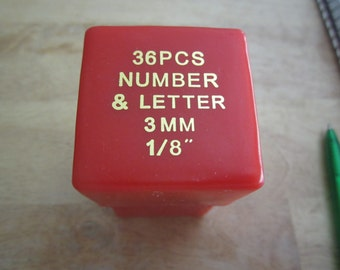3 mm  Metal Stamping Uppercase Letters and Number
