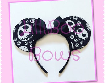 Jack Skellington Nightmare Before Christmas inspired mouse ears | Free UK shipping