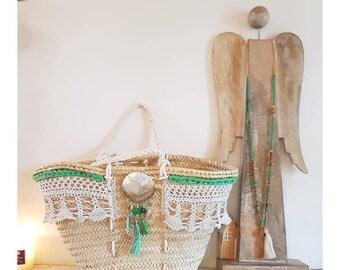 Beach basket lace & Pearl