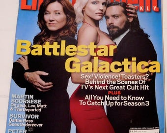 Entertainment Weekly Magazine SEPT 29 2006 Battlestar Galactica back issue.