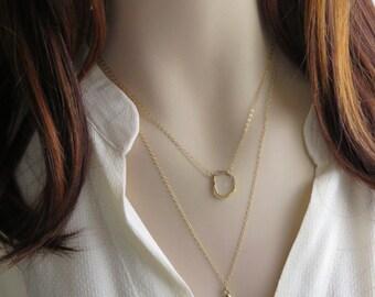 Klaxon italien collier • bonne chance Charm• Italie corne • amulette • italien bonne chance charme • superposition collier • couches • amulette collier