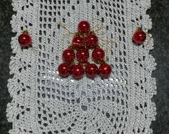 Christmas doily, Silver doily, Glitter doily, decoration, crochet doily, crocheted doily, doily Silver, home decor, doily Christmas