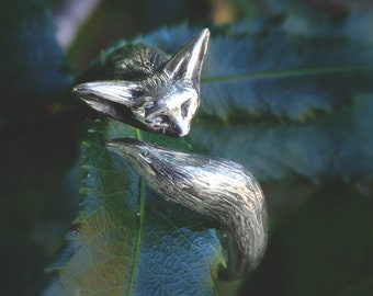Fennec | Fox ring | Silver ring | Nature ring | Best selling items | Fox tail | Fox jewelry | Adjustable ring | Animal ring