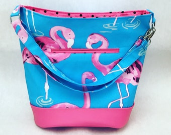 Flamingo bag, Bonnie Bucket Bag, Flamingo purse, Flamingo Crossbody, Flamingo Shoulder Bag