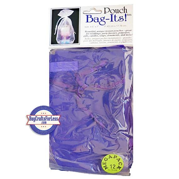 """Sheer Organza Bag-its, 12 pcs 3""""x 4"""", dk purple +FREE SHIPPING & Discounts*"""