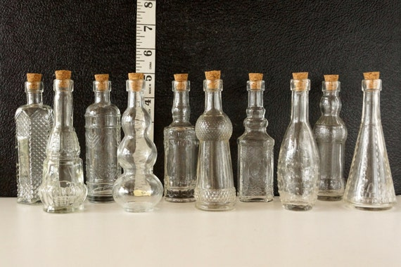 Decorative Clear Glass Bottles Amazing Decorative Clear Glass Bottles With Corks 5 Tall Set Decorating Inspiration