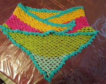 Rainbow Colored Triangle Scarf
