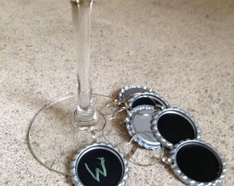 Bottle Cap Chalk Wine Charm Set of 6