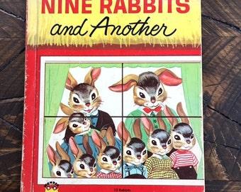 Vintage Nine Rabbits And Another AKA 10 Rabbits 1957 Mid Century Wonder Book Mirriam Potter Bunnies