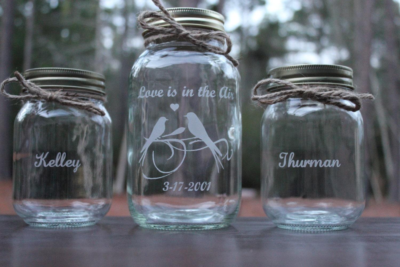 3 piece personalized mason jar sand ceremony set wedding zoom reviewsmspy