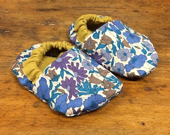 Liberty print baby shoes