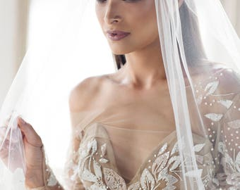 Single Layer Cathedral Length Veil - 108 inches