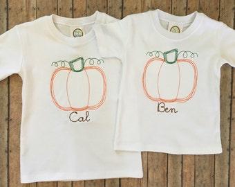 Vintage Sketch Pumpkin Shirt