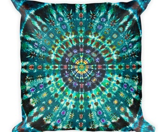Mandala Tie Dye print Square Pillow