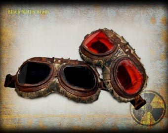 Aviator googles-Post apocalyptic motorcycle googles-Wastelander googles