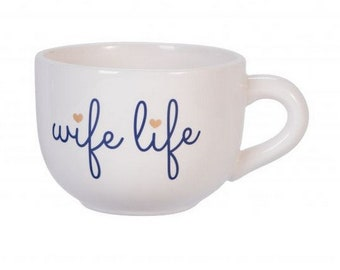 Wife Life Large Cappuccino Mug