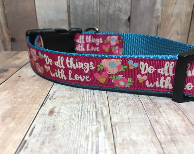 "The Everly | Designer 1"" Width Dog Collar 