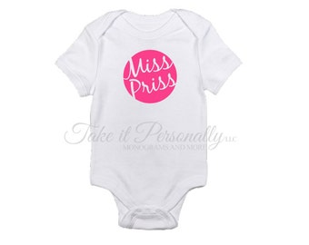 Miss Priss - Baby Girl Outfit - Baby Girl Clothes - Coming Home Outfit - Newborn Girl - Newborn Going Home Outfit - Baby Girl Onesie