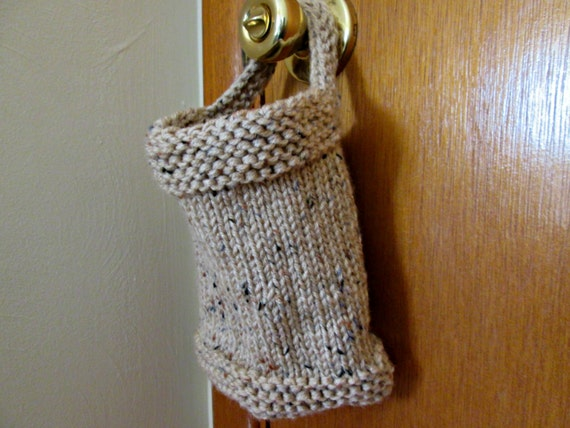 Hanging Basket Knitting Pattern Knitted Storage Pouch