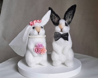 Wedding Cake Topper Love bunnies
