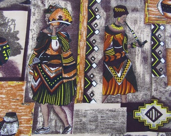 Zulu fabric,South African tribal fabric,African fabric by the yard,Best African fabrics,Fabric by the yard shops