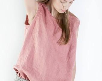 Linen blouse JONNA, 100% washed linen top, linen summer shirt, linen summer tunic, linen shirt, linen tunica, shirt, linen top, women blouse