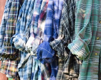 Vintage Flannel Shirt Plaid | Grunge| Boho | ALL XXL Choose Your Shirt