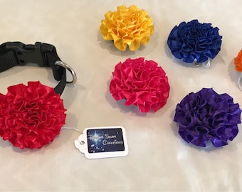 Dog collar flower bows