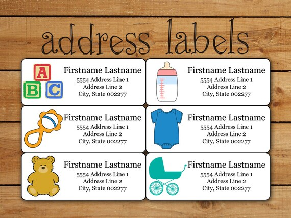 Items Similar To Baby Address Label Sticker Set Avery Template For
