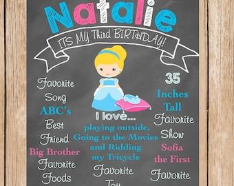 Cinderella Birthday Chalkboard