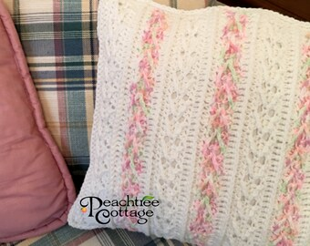Crochet Pillow Pattern - Avalon Pillow Pattern - Striped Pillow Pattern - Arrow Stitch Pillow Pattern - PDF Format