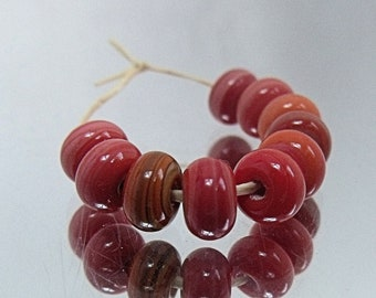 Coral Mix, Lampwork Spacer Beads, SRA, UK